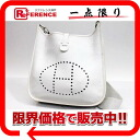 "2 HERMES ""Ebb phosphorus"" PM shoulder bag avian Yong Clement's white silver metal fittings K 刻新品同様 》 for 《"