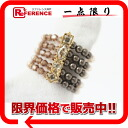 X gold 》 of Louis Vuitton beads ring 15 silver Brown line for 《