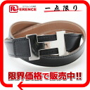 70 HERMES minicomputer stance H ベルトクシュベル X boxcalf gold X black silver metal fittings F 刻 》 for 《