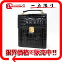 》 fs3gm 02P05Apr14M for 《 as well as Bill Blass crocodile 2WAY handbag black new article