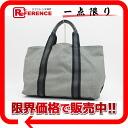 ボッテガヴェネタキャンバス X leather tote bag gray X black 158251 》 fs3gm for 《