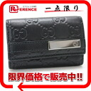 "Gucci Shima line 6 key holder black 237509 ""response.""-02P05Apr14M02P02Aug14"