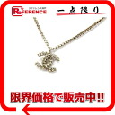 "Chanel 06A chain CC pendant necklace gold ""response."""