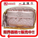 Metallic pink 》 with the CHANEL lambskin quilting chain shoulder bag fringe for 《