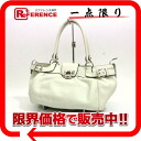 "Ferragamo gancini leather tote bag off-white silver metal ""response.""-fs3gm02P05Apr14M"
