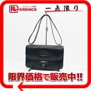 HERMES shoulder bag boxcalf navy gold metal fittings 》 for 《