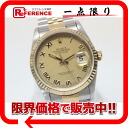 """Rolex Datejust mens watch big Roman SS×YG automatic self-winding 16233 S-overhaul has been """"enabled."""" 02p05apr12m"""