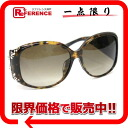Dior tortoiseshell pattern sunglasses rhinestone bijou brown X black system 086CC 》 for 《