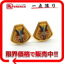 X gold 》 of HERMES cloisonne エマイユイヤリングイエロー origin for 《