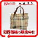 Burberry London classical music check mini-tote bag beige X brown 》 for 《