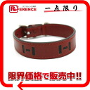 HERMES dog collar boxcalf rouge Ashe silver metal fittings I 刻未使用 》 for 《
