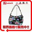 "Feiler poppies handbag black series multi-color ""response.""-02P05Apr14M02P02Aug14"