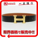 "Hermes reversible H belt 60 bockskhafe x クシュベル black x gold gold bracket Z time ""response.""-02P11Jan14"