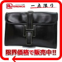 "HERMES ""ジジェ PM"" documents case boxcalf black old L 刻 》 02P11Jan14 for 《"