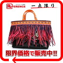 》 for 《 as well as dior Tahiti python series tote bag fringe black X orange X pink X purple M1040PFRG new article