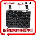 CHANEL enamel quilting shoulder bag black 》 02P11Jan14 for 《