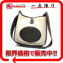 "Hermes Evelyn 2 PM shoulder bag toilasch × トリヨンクレマンス natural x dark brown silver metal I inscribed ""dealing."" 02P11Jan14"