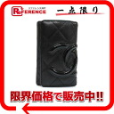 Six Kan Chanel Bonn line key case black X black A26723 》 02P11Jan14 for 《