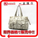 PRADA nylon tote bag beige BR3310 》 02P01Feb14 for 《