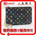 "Louis Vuitton monogram multicolored ""pochette clay"" coin case combined use キーケースノワール X グルナード M93735 》 02P01Feb14 for 《"