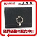Six BVLGARI bulldog garfish logo clip key case black 30422-free 》 02P01Feb14 for 《