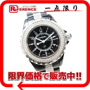CHANEL J12 diamond bezel diamond breath Lady's watch black high ceramic quartz H1338 33m 》 fs3gm for 《