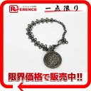 "02P05Apr14M Chanel 03P medal coin bracelet antique silver ""support."""