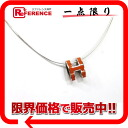 HERMES pop Ashe necklace orange X silver 》 for 《