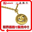 CHANEL CC pendant necklace gold 》 02P01Feb14 for 《