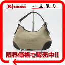 PRADA logo jacquard semi-shoulder bag beige X dark brown BR3427 》 02P01Feb14 for 《
