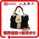 ブルガリレオーニ 11-limited limited edition 2WAY handbag black X beige X red 34883 》 for 《
