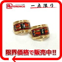 "HERMES cloisonne ""エマイユ"" earrings red system X gold 》 for 《"