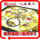 "Hermes silk scarf-""boyfriend"" circus (Circus) gray × 02P05Apr14M02P02Aug14 yellow ""support."""