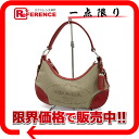 PRADA logo jacquard semi-shoulder bag beige X red BR3429 》 for 《