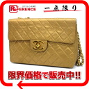 Chanel lambskin デカマトラッセ 34 W Deco bag gold chain shoulder bag s correspondence.""