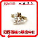 Like-new 》 02P05Apr14M which has been finished with Tasaki Tasaki Shinju K18YG baby pearl ring 11 for 《