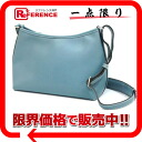 "Hermes Berlingo PM shoulder bag Epson Blue Jean silver metal I carved ""response.""-02P05Apr14M"