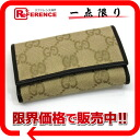 Six gucci GG canvas key case beige X dark brown 260989 》 02P05Apr14M for 《