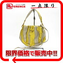 Prada leather 2-WAY shoulder bag gold / ivory? s support.""