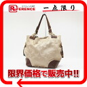 Coach signature satin tote bag khaki X brown 14505 》 for 《