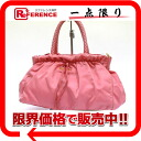 PRADA nylon ribbon handbag pink 》 for 《