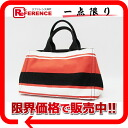 》 for 《 as well as PRADA CANAPA カナパ STAMPA border print Small tote bag orange X white X black B1877B new article
