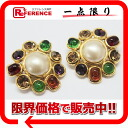 CHANEL bijou fake pearl earrings gold X multicolored 》 for 《