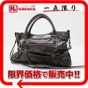 "BALENCIAGA editors bag ""the first"" dark brown system 103208 like-new 》 for 《"