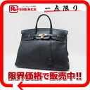 "Gold metal fittings W 刻 》 of 40 HERMES highest peak handbag ""Birkin"" クシュベルダークネイビー origin for 《"
