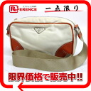 PRADA nylon shoulder bag white X orange 》 for 《