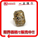 "02A Chanel CC Crystal ring gold ""response."""
