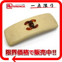 "Chanel CC leather Barrette beige ""response.""-02P05Apr14M02P02Aug14"