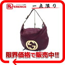 Gucci leather interlocking grip G semi-shoulder bag purple 130771 》 for 《