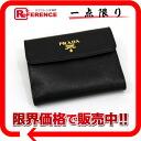 PRADA Prada saffiano W hook wallet black owned